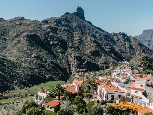 gran canaria village tejeda view of roque nublo