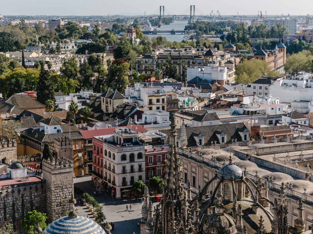 Views over Seville from the Seville Cathedrale