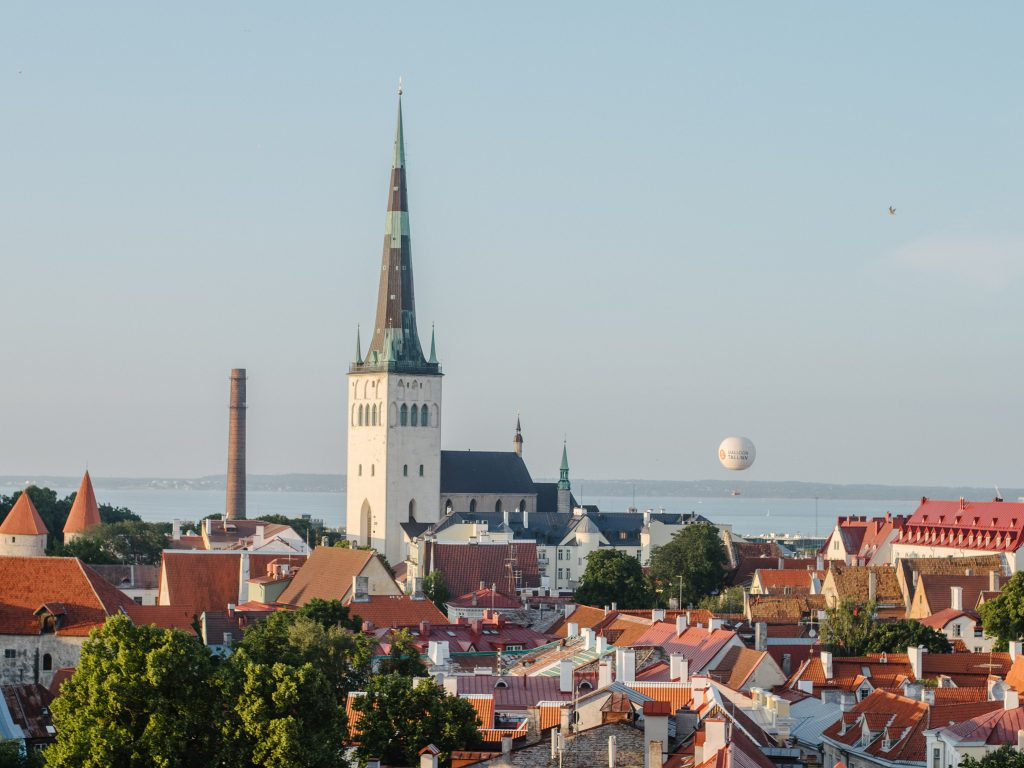 Estonia with baby - our 3 days road trip itinerary view over Tallinn old city