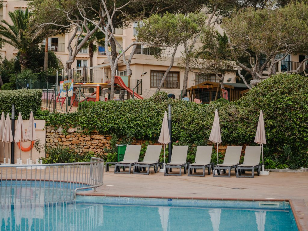INVISA Figueral Resort on Ibiza swimming pool by the main restaurant