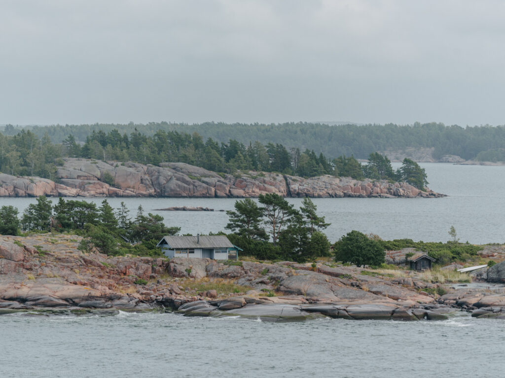 Åland Islands archipelago mariehamn harbour entrance view