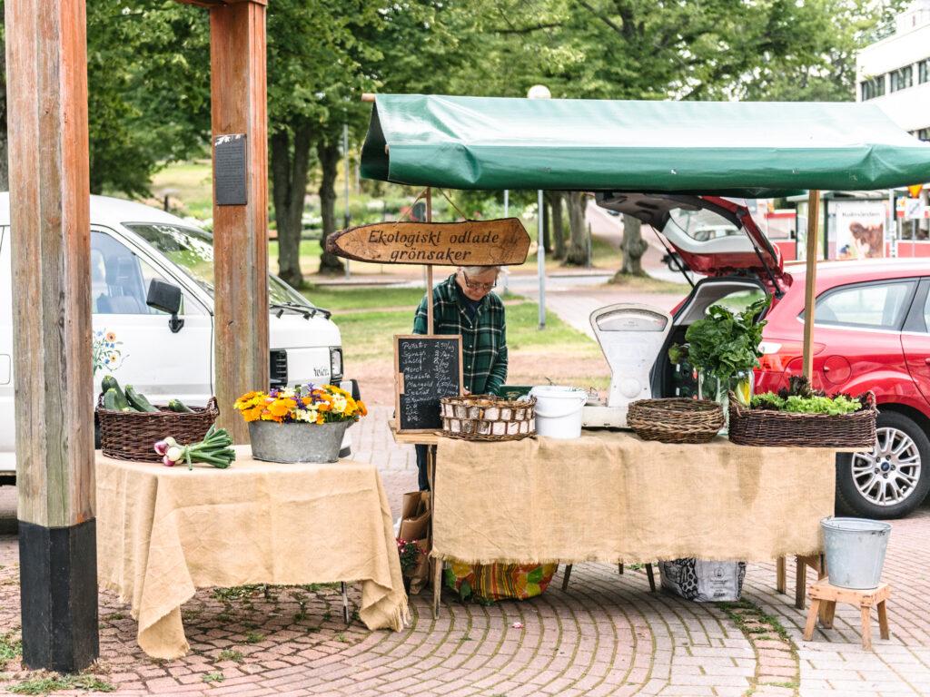 market day Åland Mariehamn